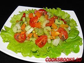 Салат с сельдереем перцем помидорами