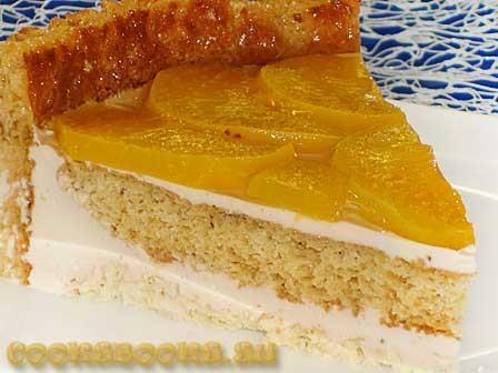 Торт Нежность с творожным кремом
