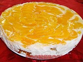 Творожный крем с персиком для бисквитного торта