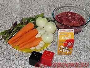 Печень с морковью и луком в сметанном соусе