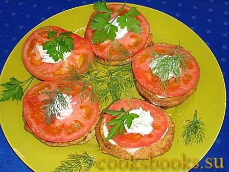 Кабачки в кляре с помидорами рецепт с