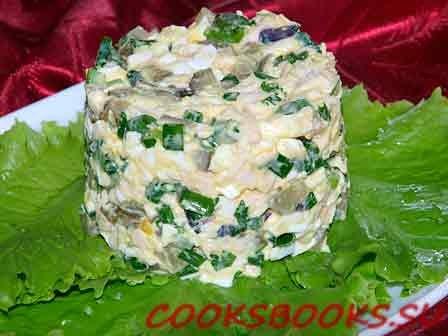 Салат огурцы яйцом рецепт фото