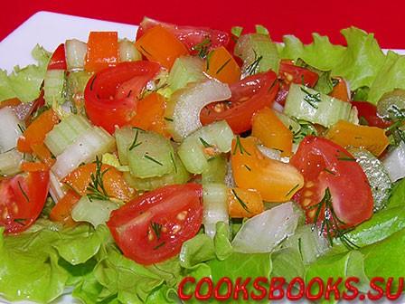 Салат стебли селдерея красный перец