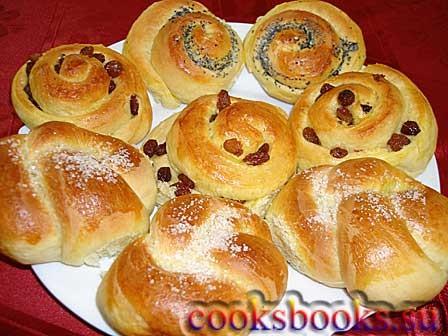 Сдобное тесто на сметане для булочек
